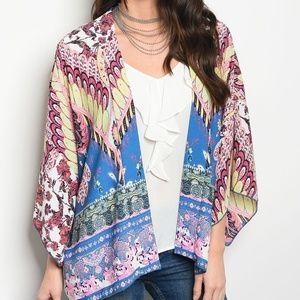 Jackets & Blazers - Bright colored kimono